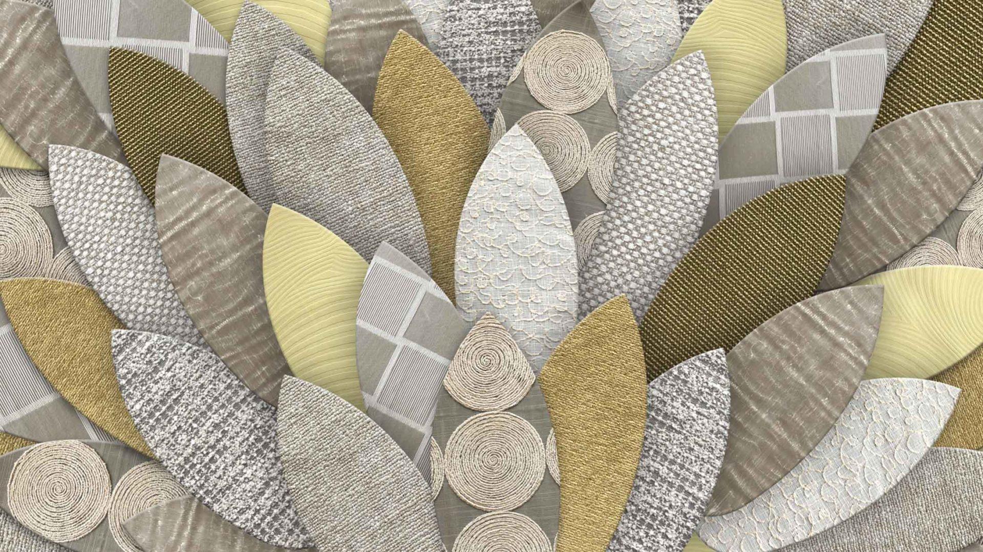 Tissus et matières pour la décoration d'intérieur.
